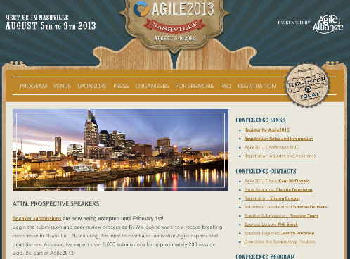 Agile 2013 Conference参加者ガイド!今年は音楽の街ナッシュビル!